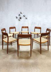Vintage Danish dining chairs Niels O. Møller eetkamerstoelen No.71