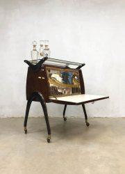 midcentury modern Italian design trolley cabinet vintage design