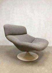 F518 Geoffrey Harcourt for Artifort lounge chair foot stool dutch design ploeg fabric