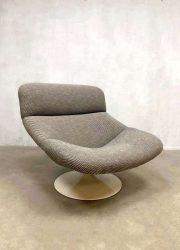 Vintage design swivel chair draaifauteuil & hocker Geoffrey Harcourt Artifort