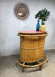 vintage sixties tiki bar bamboo rattan cocktail bar