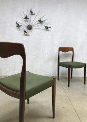 vintage Deense eetkamer stoel chair Niel O. Moller design