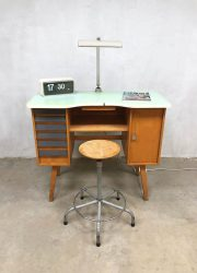 Vintage writing desk watch maker sixties bureau horloge maker