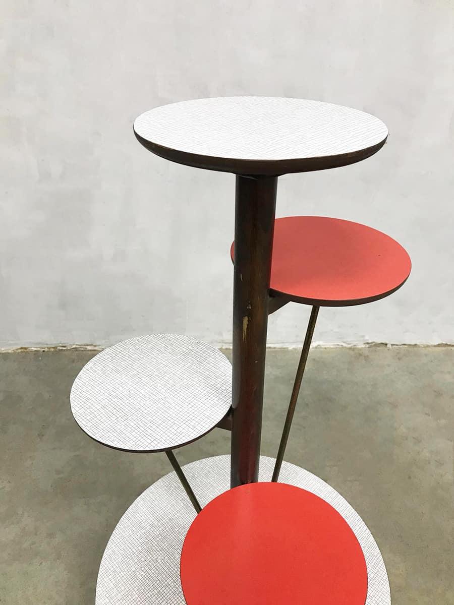 Bijzettafel Retro Design.Vintage Design Fifties Plant Stand Etagere Retro