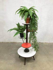 Vintage design fifties plant stand etagère retro plantentafel jaren 50