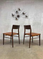 vintage tuigleren eetkamerstoelen leather dinner chairs dining chairs design