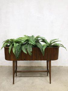 Vintage Danish design plant stand plantenbak plantenstandaard Deens XXL
