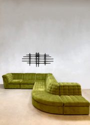 Vintage modular sofa seating elements bank modulair Laauser XXL Botanic green
