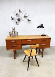 Mid-century vintage desk sideboard side table bureau Victor Wilkins G-plan