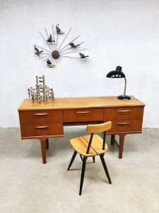 Mid-century vintage desk sideboard side table bureau Victor Wilkins G-plan