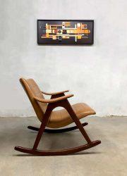 Midcentury design rocking chair schommelstoel Webe Louis van Teeffelen