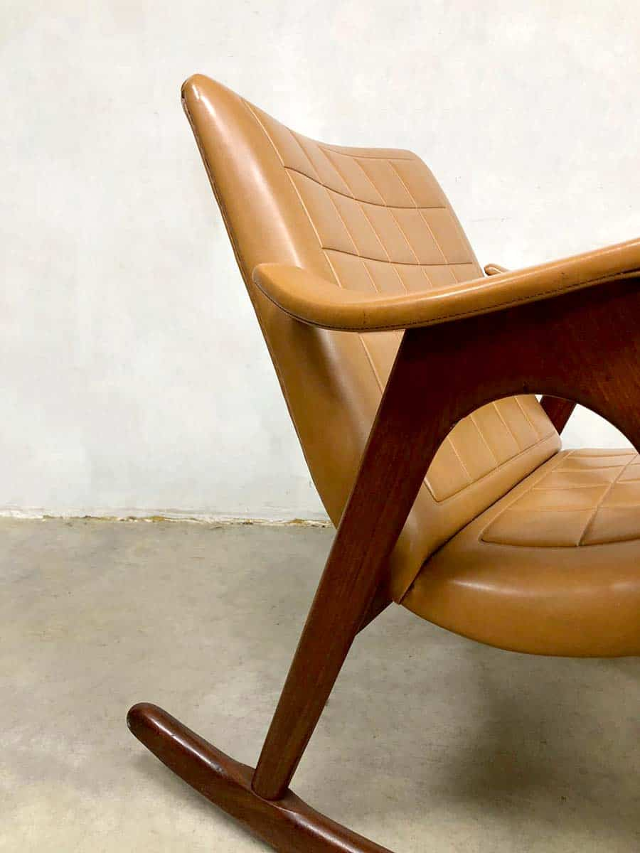 Midcentury Design Rocking Chair Schommelstoel Webe Louis