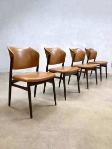 Vintage dining dinner chairs Danish style seventies eetkamerstoelen Deense stijl
