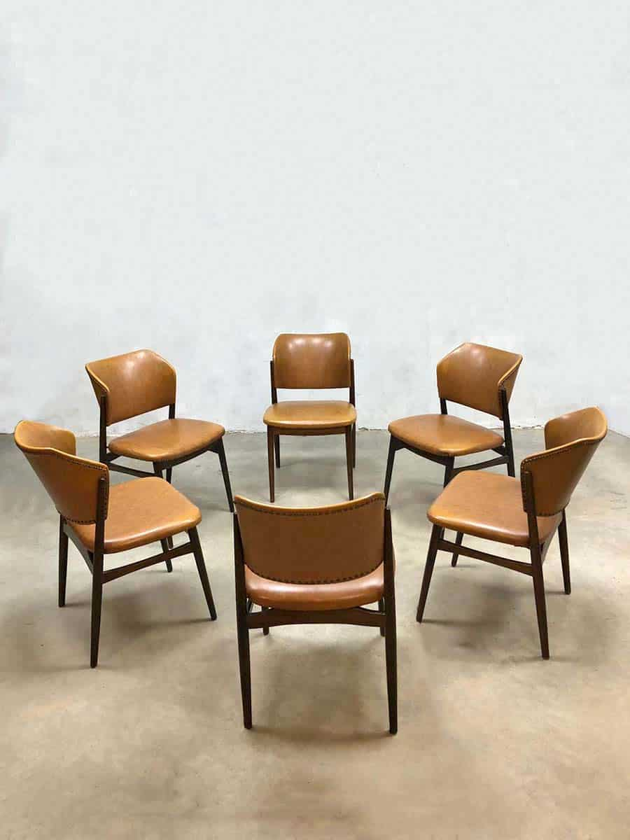 Vintage Dining Dinner Chairs Danish Style Seventies