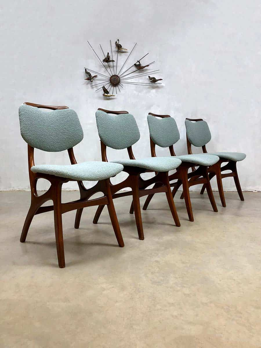 Vintage dutch design dining chairs eetkamerstoelen pynock for Dutch design eetkamerstoelen