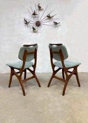 Vintage Dutch design dinner chairs dining chairs eetkamerstoelen Pynock Webe style