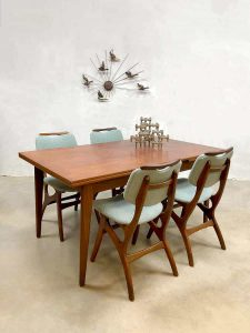 vintage dining set dinner set eetkamerset Dutch design Pynock Webe stijl Louis van Teeffelen