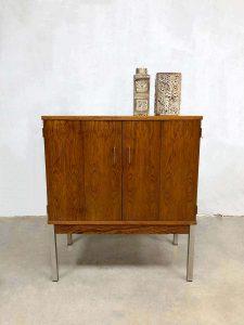 Vintage design storage cabinet minimalism rosewood kast