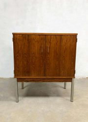 vintage tv kast chrome poten minimalistisch design rosewood cabinet