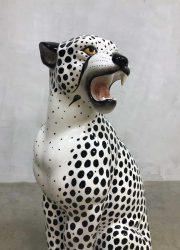 midcentury design decoration tiger statue white