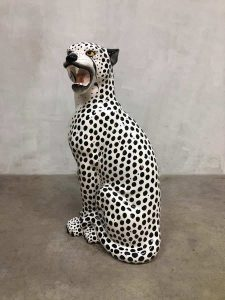 vintage Italian design panter white tiger