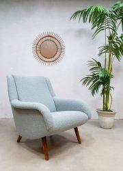 Vintage design lounge chair fauteuil armchair Ice blue