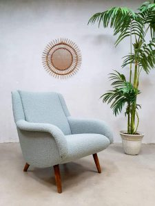 Vintage design lounge chair fauteuil armchair Ice blue