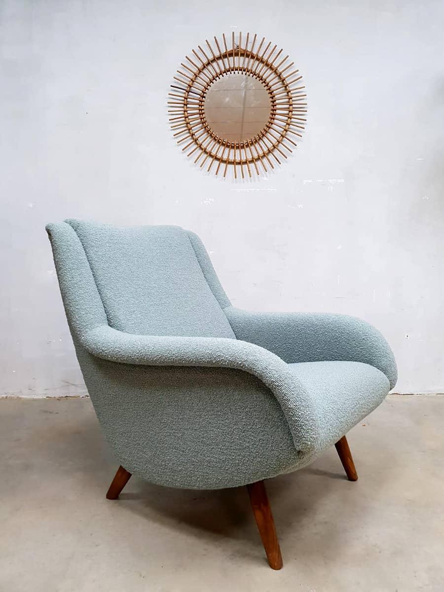 Leuke Design Fauteuil.Vintage Design Lounge Chair Fauteuil Armchair Ice Blue