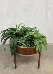 midcentury modern plant stand plantenstandaard teak plantenbak bohemian