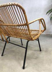 vintage retro Bohemian rattan bank bench sofa rotan Rohe Noordwolde