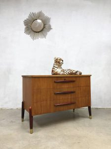Danish vintage midcentury design chest of drawers cabinet ladekast Deens