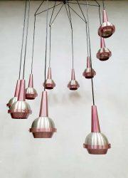 vintage design cascading pendant lamp hanglamp luster XXL 1960