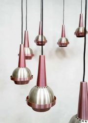 ustrieel minimalism cascade lamp jaren 60 space age