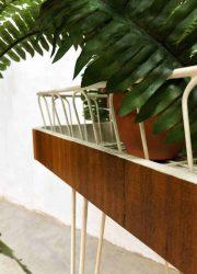 midcentury modern vintage wire plant stand