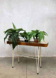 vintage planten standaard industrieel retro draadstaal