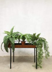 Vintage draad plantenbak planten tafel wire plant stand 'minimalism'