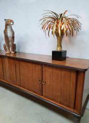 dressoir cabinet sideboard low board curved doors art deco vintage
