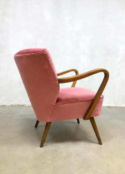 fifties sixties armchair cocktail chair expo chair pink velvet