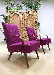 vintage design armchair Halabala lounge chair Czech bentwood fauteuil