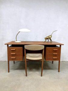 Danish vintage design desk teak bureau Scandinavian modern midcentury