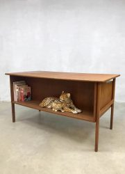 Vintage Scandinavian teak desk Danis office design
