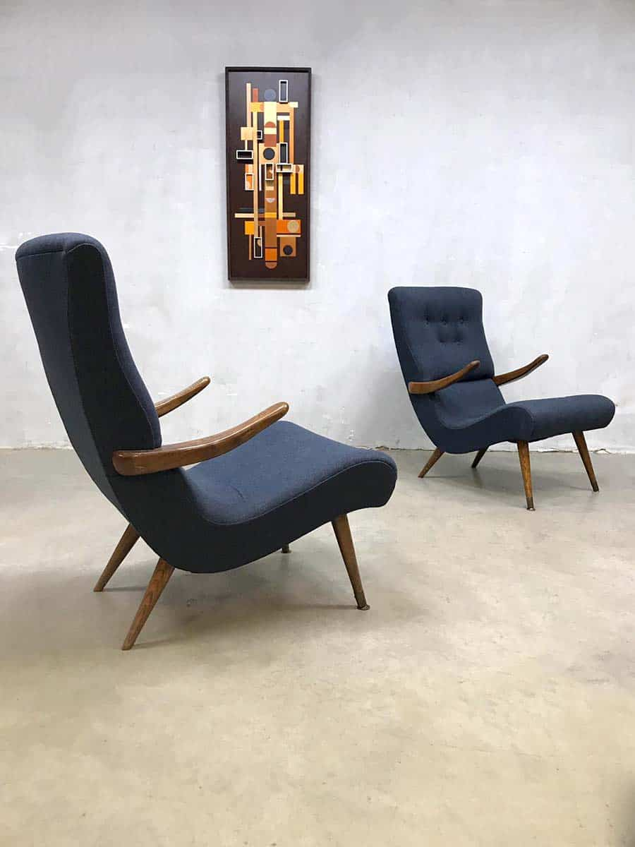 Fauteuils Modern Design.Scandinavian Modern Vintage Design Arm Chairs Lounge Fauteuils