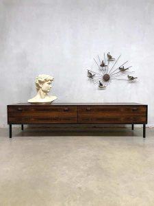 Vintage design rosewood palissander lowboard cabinet dressoir XXL