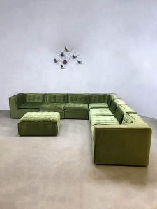 Vintage design modular sofa elementen bank luxury green XXL