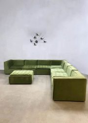 Vintage design modular sofa elementen bank XXL Botanical green