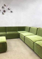 vintage sofa bank XXL groen green midcentury modern design