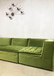 vintage design modular sofa green fabric Laauser De Sede bank