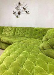 midcentury vintage design modular sofa bank retro vintage design velvet