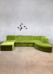green lounge sofa modular velvet Lausser Desede style vintage design