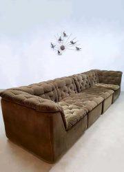 Vintage design velvet modular sofa seating elements elementen bank Lausser